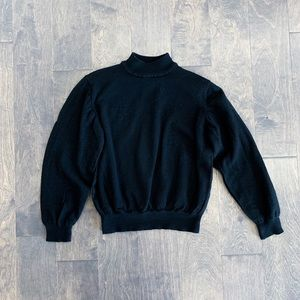Nordstrom Black Balloon Sleeve Sweater